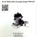 Bond Alpha mini manual cover